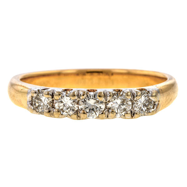 Vintage Diamond Wedding Band Ring sold by Doyle & Doyle vintage and antique jewelry boutique.