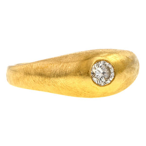 Antique Gypsy Set Diamond Ring, RBC 0.25ct. sold by Doyle & Doyle vintage and antique jewelry boutique.