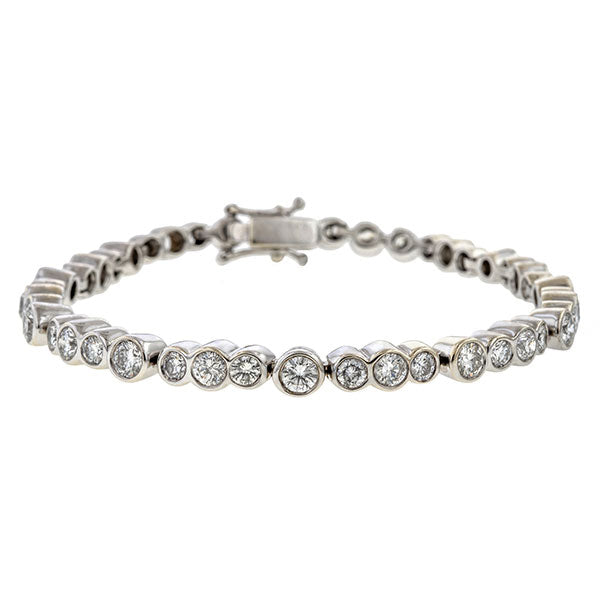 Vintage Diamond Tennis Bracelet sold by Doyle & Doyle vintage and antique jewelry boutique.