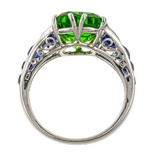 Estate Tsavorite & Sapphire Ring sold by Doyle & Doyle vintage and antique jewelry boutique.