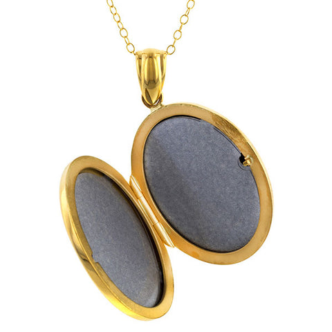 Oval Locket sold by Doyle & Doyle vintage and antique jewelry boutique.