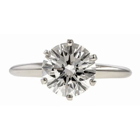 Vintage Solitaire Engagement Ring, RBC 2.08ct. sold by Doyle & Doyle vintage and antique jewelry boutique.