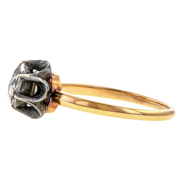 Antique Rose Cut Solitaire Ring sold by Doyle & Doyle vintage and antique jewelry boutique.