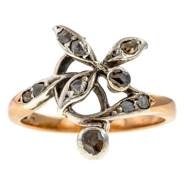 Art Nouveau Rose Cut Diamond Ring sold by Doyle & Doyle vintage and antique jewelry boutique.