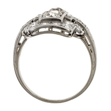 Art Deco Diamond Dinner Ring sold by Doyle & Doyle vintage and antique jewelry boutique.