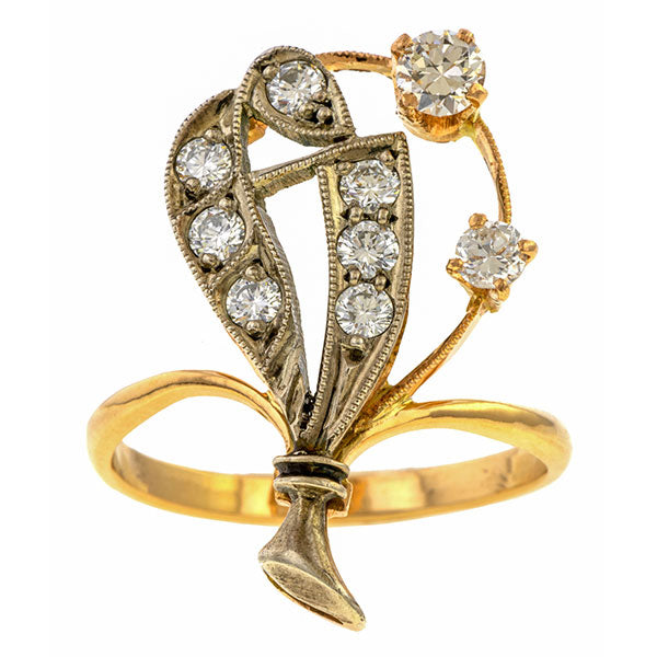 Vintage Diamond Ring sold by Doyle & Doyle vintage and antique jewelry boutique.