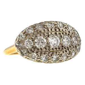 Antique Diamond Cluster Ring sold by Doyle & Doyle vintage and antique jewelry boutique.