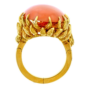 Vintage Julius Cohen Coral Ring sold by Doyle & Doyle an antique & vintage jewelry boutique.