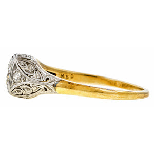 Art Deco Diamond Ring, Euro 0.43ct sold by Doyle & Doyle vintage and antique jewelry boutique