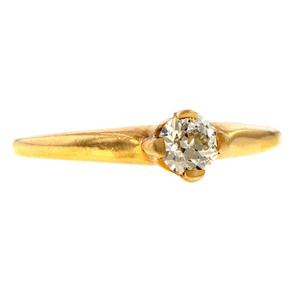 Estate Diamond Ring, Old Euro 0.35ct. sold by Doyle & Doyle vintage and antique jewelry boutique.