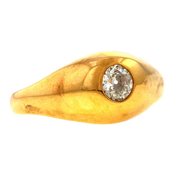 Estate Gypsy Set Ring sold by Doyle & Doyle vintage and antique jewelry boutique.