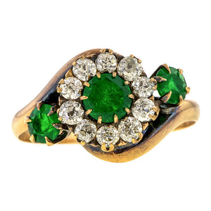 Antique Emerald & Diamond Ring sold by Doyle & Doyle an antique & vintage jewelry boutique.