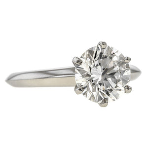 Vintage Tiffany & Co. Engagement Ring, RBC 2.02ct. sold by Doyle and Doyle an antique and vintage jewelry boutique.