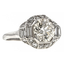 Vintage Engagement Ring, RBC 1.92ct. sold by Doyle and Doyle an antique and vintag jewelry boutique.