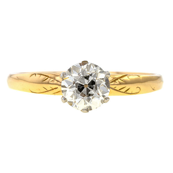 Vintage Engagement Ring, Old European 1.03ct. sold by Doyle and Doyle an antique and vintage jewelry boutique.
