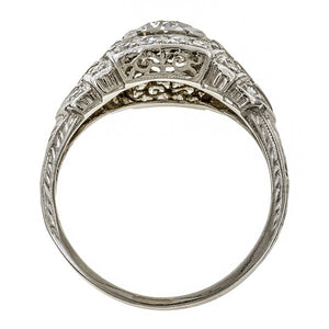 Vintage Engagement Ring, Old Euro 1.18ct. sold by Doyle and Doyle and antique and vintage jewelry boutique.