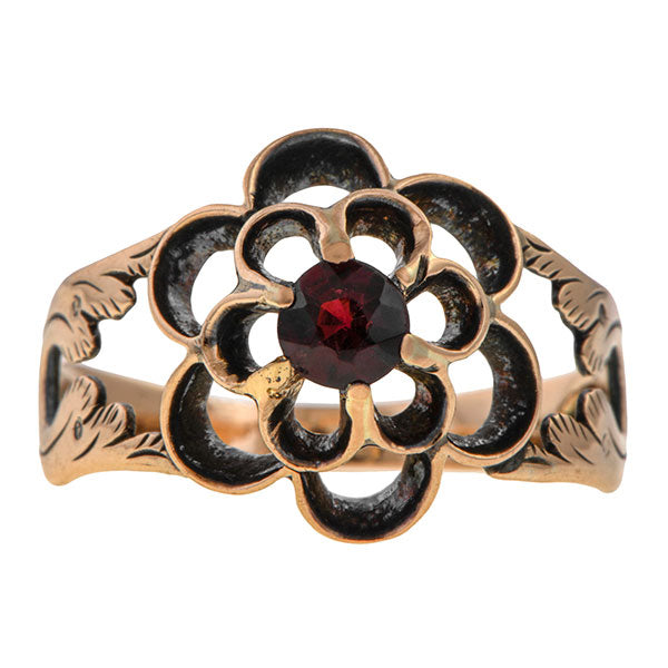 Georgian Garnet Ring