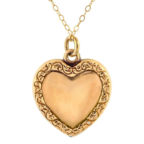 Antique Pearl Heart Pendant Necklace sold by Doyle & Doyle an antique and vintage jewelry boutique.