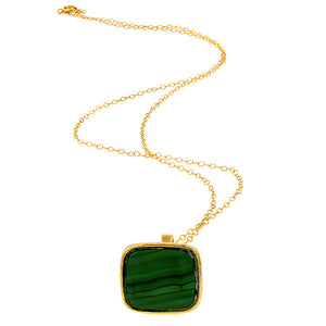 Antique Malachite Fob Charm Pendant sold by Doyle and Doyle an antique and vintage jewelry boutique.