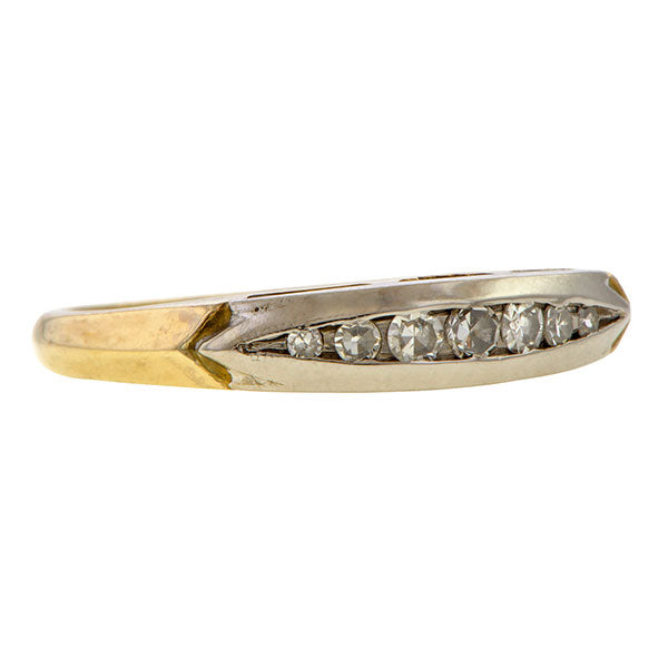 Vintage Diamond Wedding Band sold by Doyle & Doyle an antique and vintage jewelry boutique.