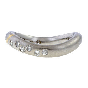 Vintage Two-toned Diamond Band sold by Doyle and Doyle an antique and vintage jewelry boutique