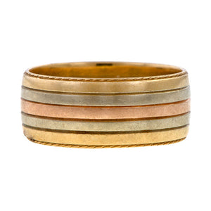 Vintage Two-toned Band sold by Doyle and Doyle an antique and vintage jewelry boutique