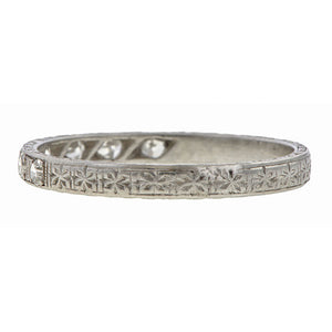 Vintage Diamond Wedding Band, Platinum sold by Doyle and Doyle an antique and vintage jewelry boutique