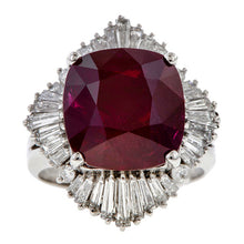 Estate Ruby & Diamond Ring sold by Doyle and Doyle an antique and vintage jewelry boutique.