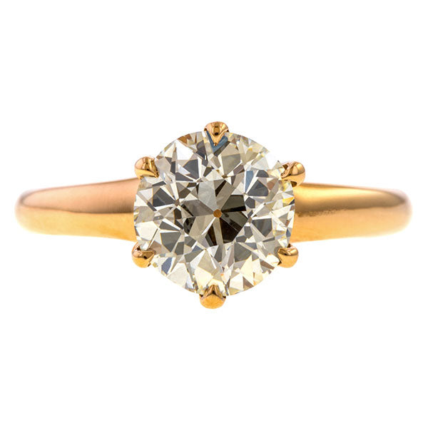 Vintage Solitaire Engagement Ring, Old European 1.55ct. sold by Doyle and Doyle an antique and vintage jewelry boutique