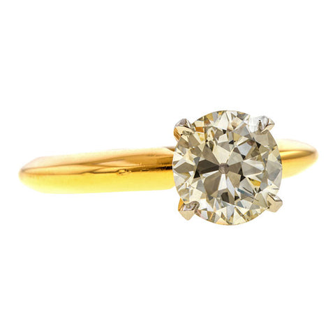 Vintage Solitaire Engagement Ring, Circular Brilliant 1.11ct. sold by Doyle and Doyle an antique and vintage jewelry boutique