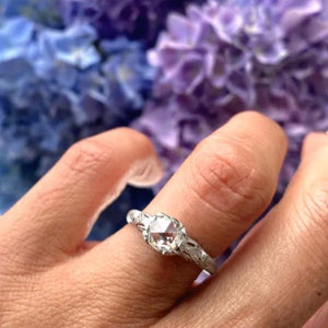 Art Deco Rose Cut Diamond Engagement Ring, 0.68ct from Doyle & Doyle