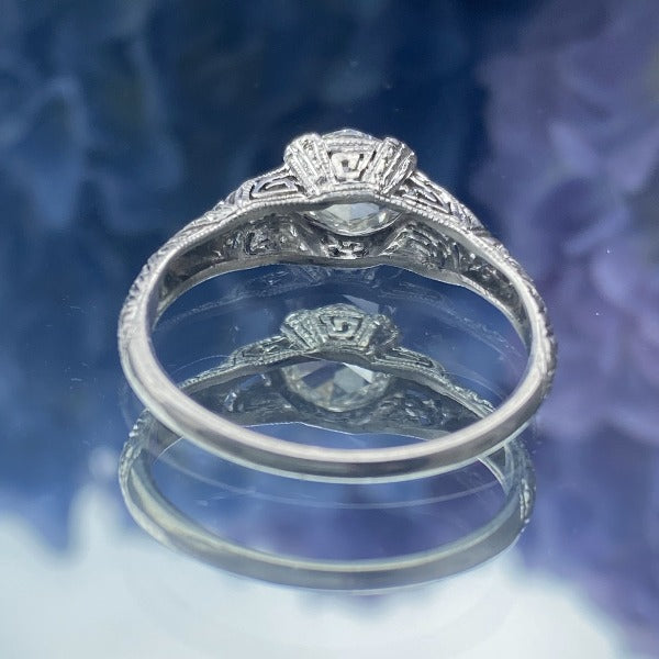 Art Deco Rose Cut Diamond Engagement Ring sold by Doyle and Doyle an antique and vintage jewelry boutique.