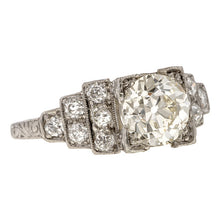 Art Deco Vintage Engagement Ring, Old Euro 1.50 ct. sold by Doyle & Doyle an antique and vintage jewelry boutique.