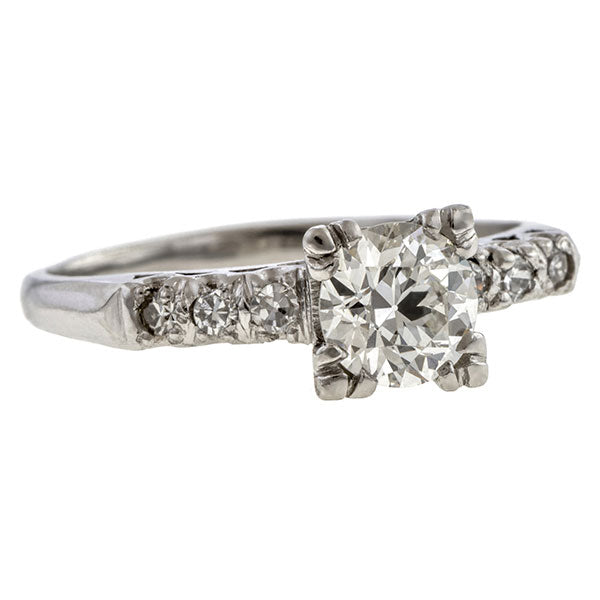 Vintage Engagement Ring, Circular Brilliant 0.96ct  sold by Doyle and Doyle an antique and vintage jewelry boutique