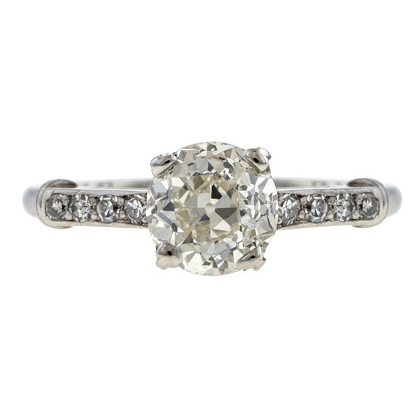 Vintage Engagement Ring, Old European 0.92ct  sold by Doyle and Doyle an antique and vintage jewelry boutique