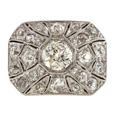 Art Deco Diamond Dinner Ring sold by Doyle and Doyle an antique and vintage jewelry boutique