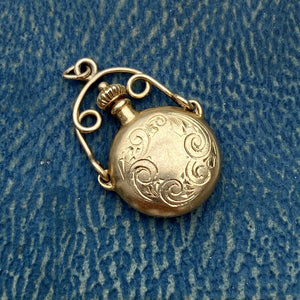 Vintage Perfume Flask Pendant sold by Doyle & Doyle an antique and vintage jewelry boutique.