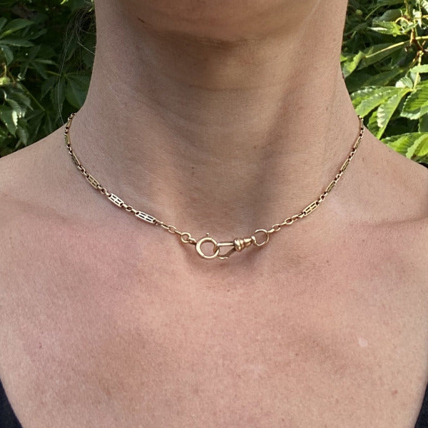 Art Deco Fancy Link Chain sold by Doyle & Doyle an antique & vintage jewelry boutique.
