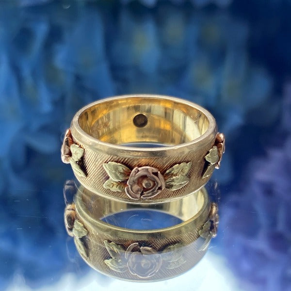 Vintage Rose Band sold by Doyle and Doyle an antique and vintage jewelry boutique.