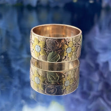 Antique Floral Wedding Band sold by Doyle and Doyle an antique and vintage jewelry boutique.