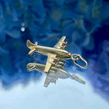 Vintage Airplane Charm Pendant sold by Doyle and Doyle an antique and vintage jewelry boutique.