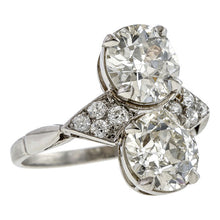 Antique French Toi et Moi Engagement Ring sold by Doyle and Doyle an antique and vintage jewelry boutique