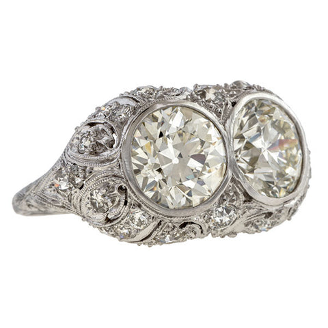 Antique Toi et Moi Engagement Ring sold by Doyle and Doyle an antique and vintage jewelry boutique