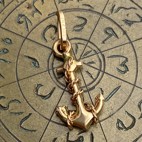 Vintage Anchor Charm Pendant sold by Doyle and Doyle an antique and vintage jewelry boutique