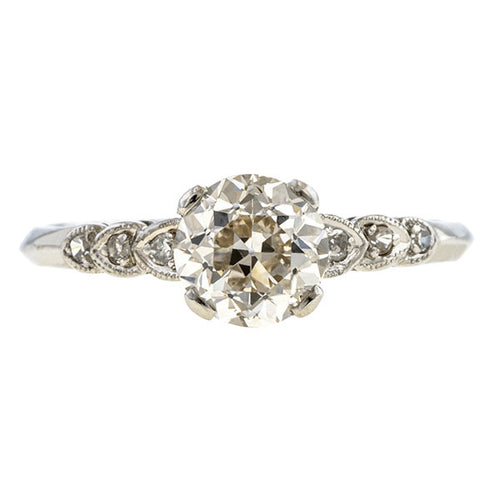 Vintage Engagement Ring, CB 1.43ct sold by Doyle and Doyle an antique and vintage jewelry boutique