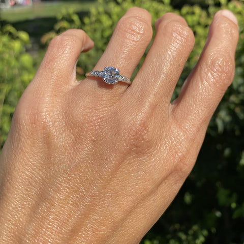 Vintage Engagement Ring, CB 1.43ct. sold by Doyle & Doyle an antique and vintage jewelry boutique.