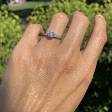 Vintage Engagement Ring, Old Euro 0.62ct. sold by Doyle & Doyle an antique and vintage jewelry boutique.
