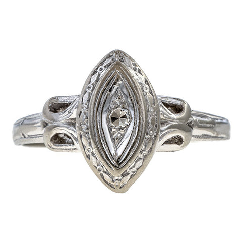 Vintage Diamond Ring sold by Doyle & Doyle an antique and vintage jewelry boutique.