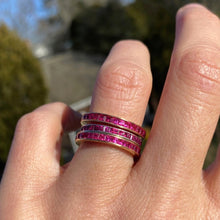 Vintage Ruby Eternity Band sold by Doyle and Doyle an antique and vintage jewelry boutique