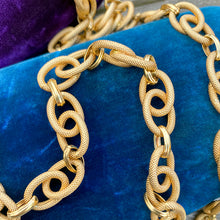 Estate Textured Link Chain Necklace sold by Doyle and Doyle an antique and vintage jewelry boutique